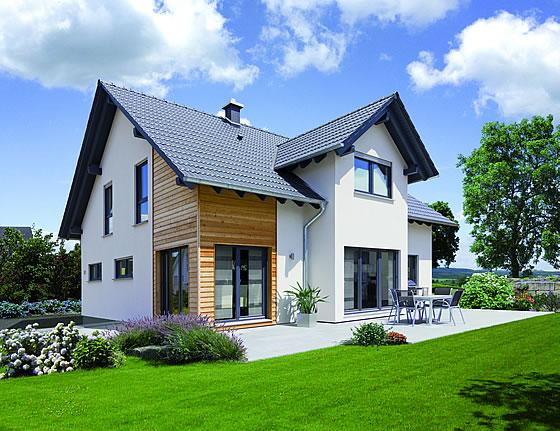 Das Einsteigerhaus L105.10 von Fingerhut Haus hat den diesjährigen Deutschen Traumhauspreis erhalten. Foto: Fingerhut Haus