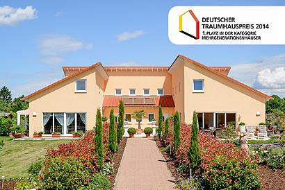 Erster Platz beim Deutschen Traumhauspreis 2014