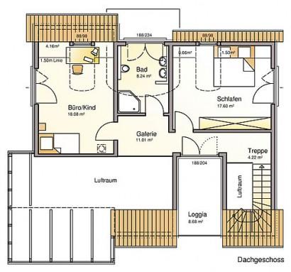 Dachgeschoss Sunrise Pro von Albert-Haus GmbH & Co. KG
