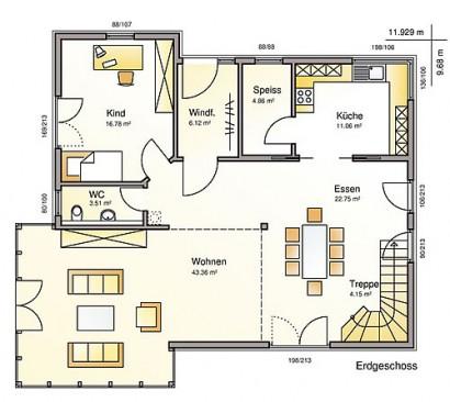 Erdgeschoss Sunrise Pro von Albert-Haus GmbH & Co. KG