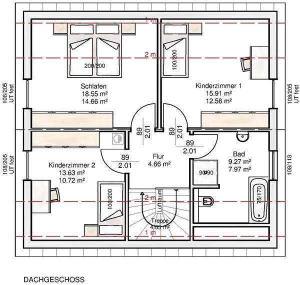 Dachgeschoss Hannah 133 von Albert-Haus GmbH & Co. KG