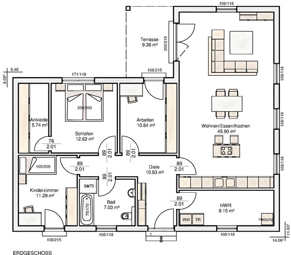 Erdgeschoss Leah 128 von Albert-Haus GmbH & Co. KG