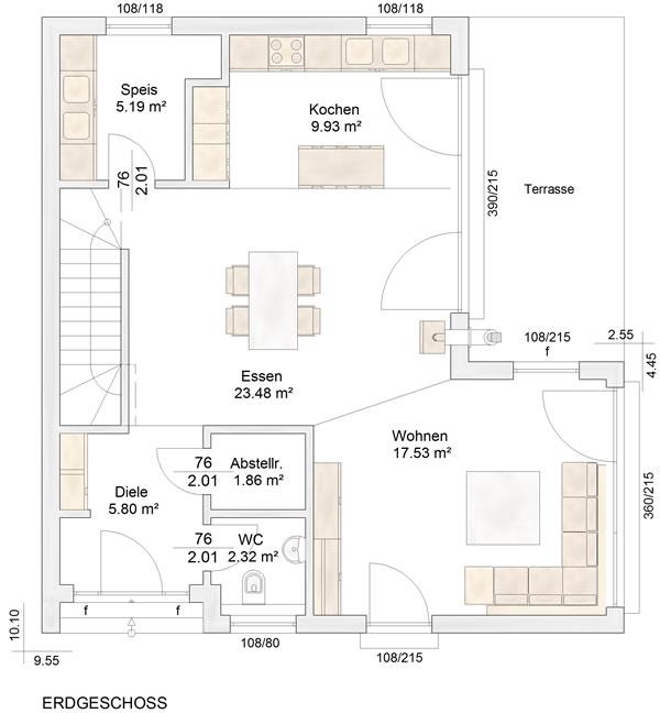 Erdgeschoss Straubenhardt von Albert-Haus GmbH & Co. KG