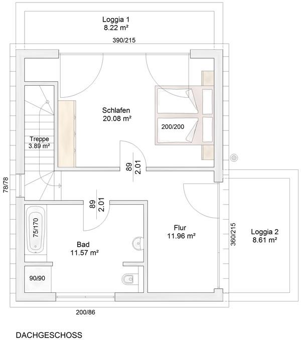 Obergeschoss Straubenhardt von Albert-Haus GmbH & Co. KG