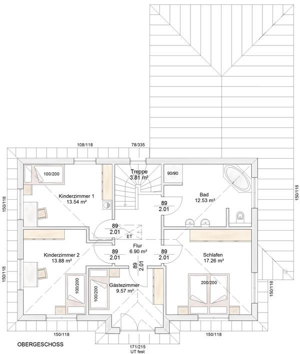 Obergeschoss Uffenheim von Albert-Haus GmbH & Co. KG
