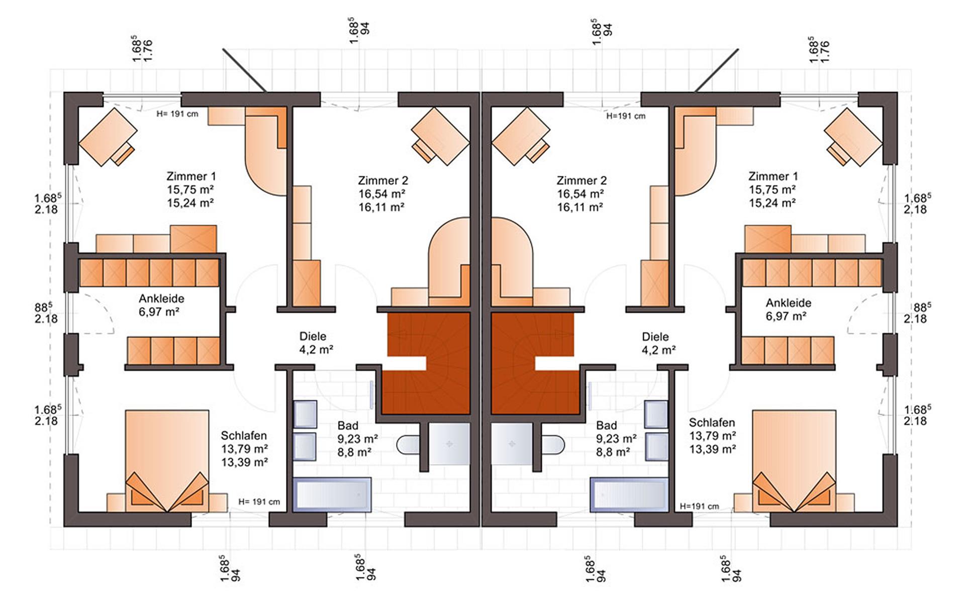 Dachgeschoss Duo 141 von Bärenhaus - das fertige Haus GmbH