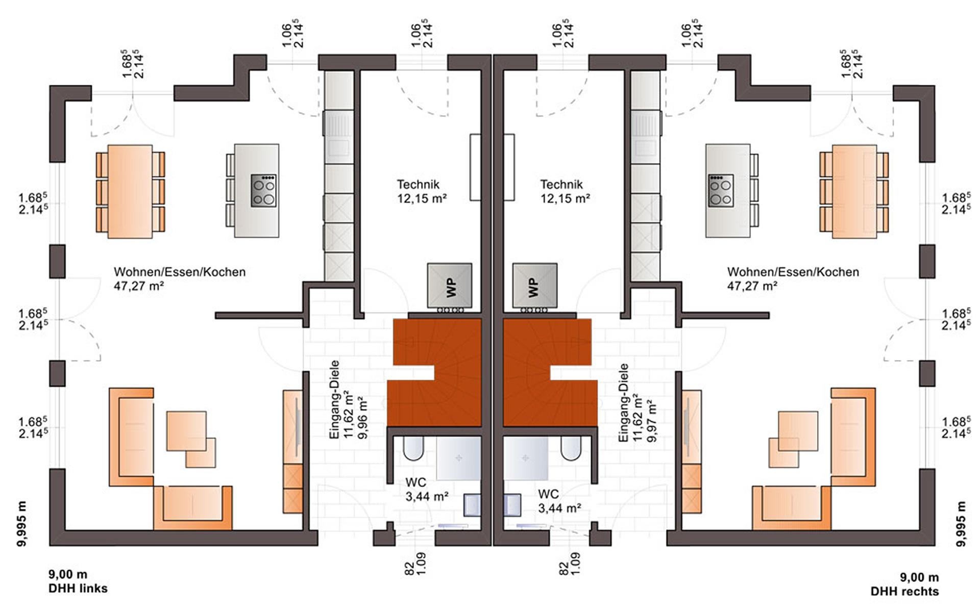 Erdgeschoss Duo 141 von Bärenhaus - das fertige Haus GmbH
