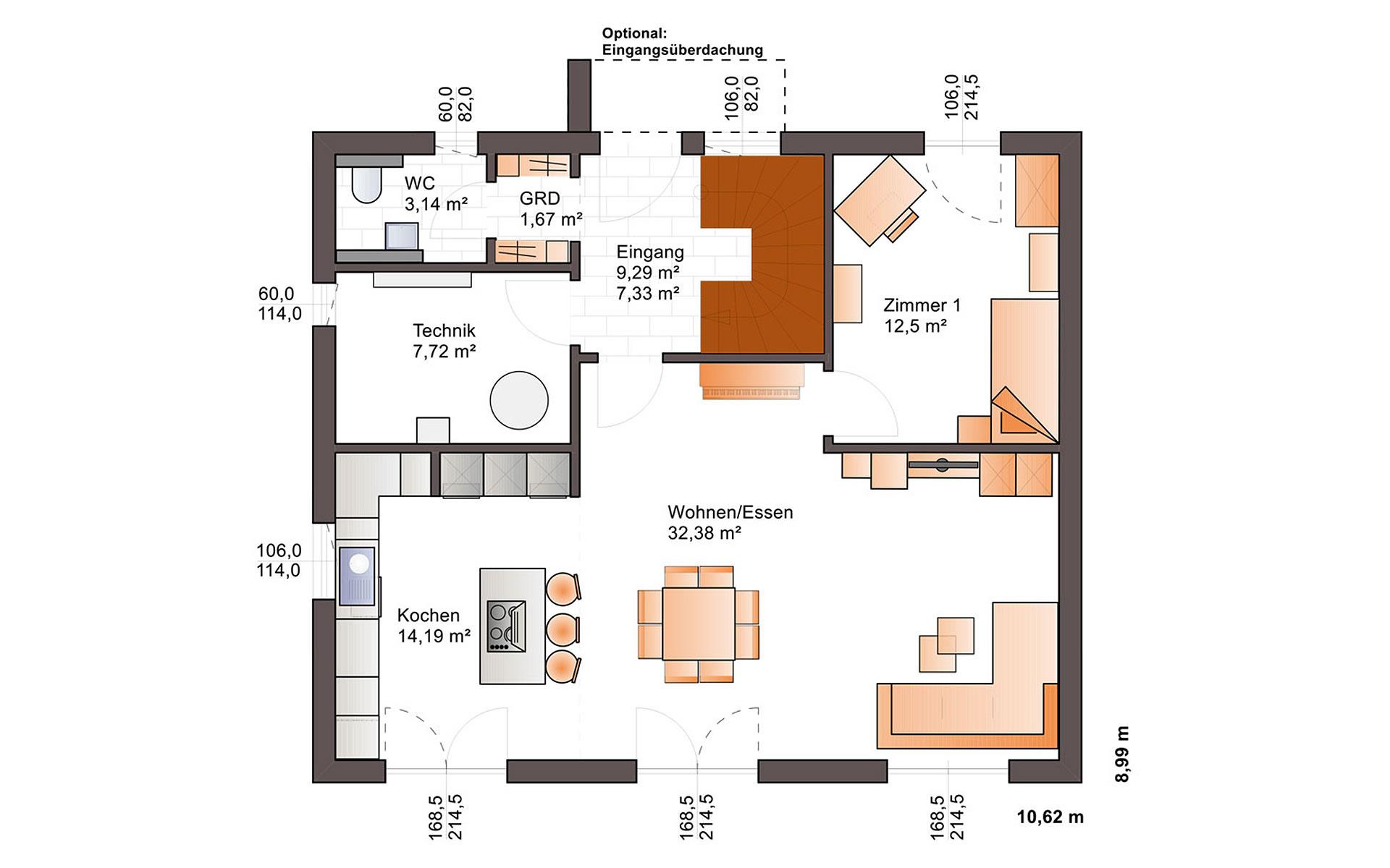 Erdgeschoss Eos 154 von Bärenhaus - das fertige Haus GmbH