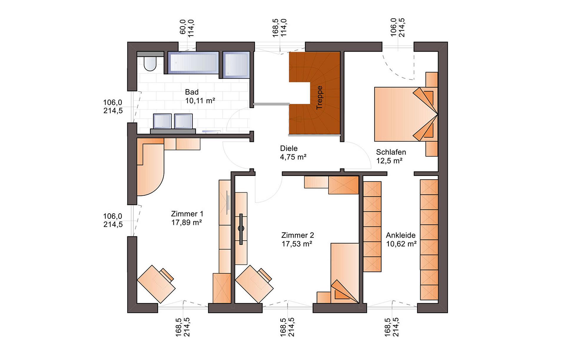 Obergeschoss Eos 154 von Bärenhaus - das fertige Haus GmbH