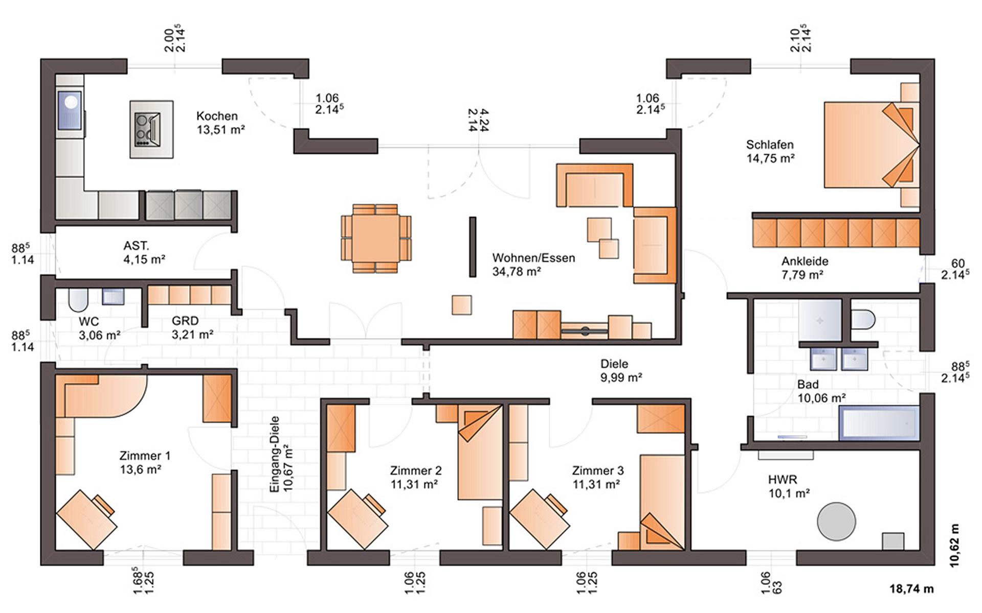 Erdgeschoss One 158 von Bärenhaus - das fertige Haus GmbH