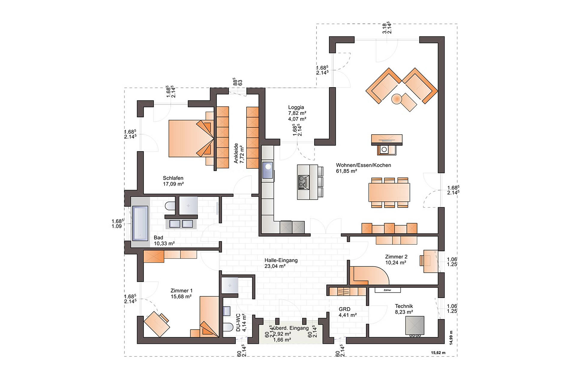 Erdgeschoss One 173 von Bärenhaus - das fertige Haus GmbH