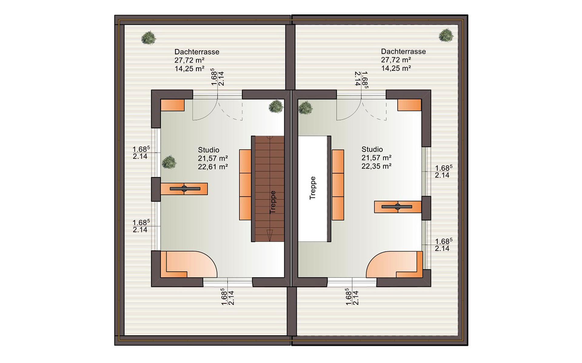 Dachgeschoss Duo 160 von Bärenhaus - das fertige Haus GmbH