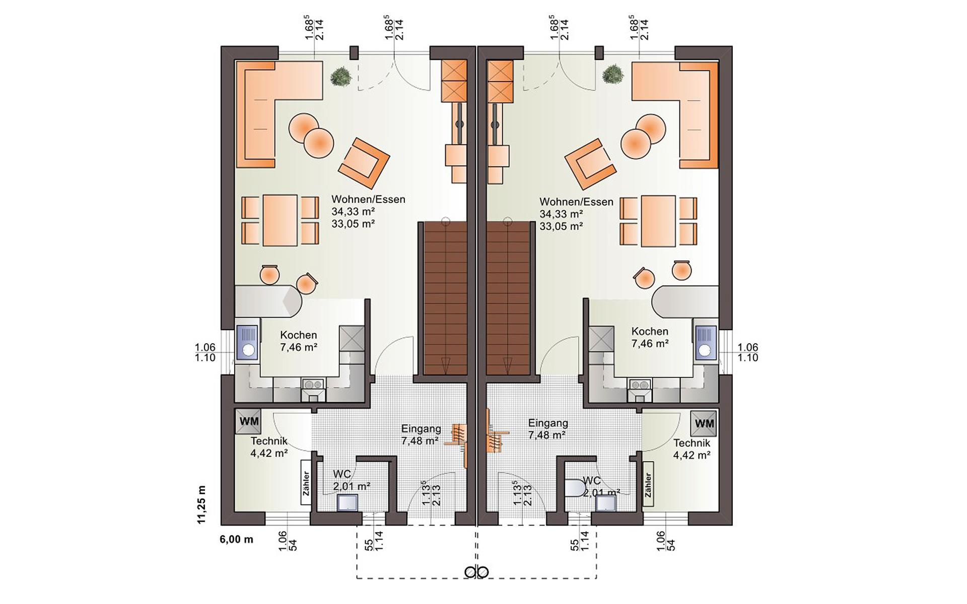 Erdgeschoss Duo 160 von Bärenhaus - das fertige Haus GmbH