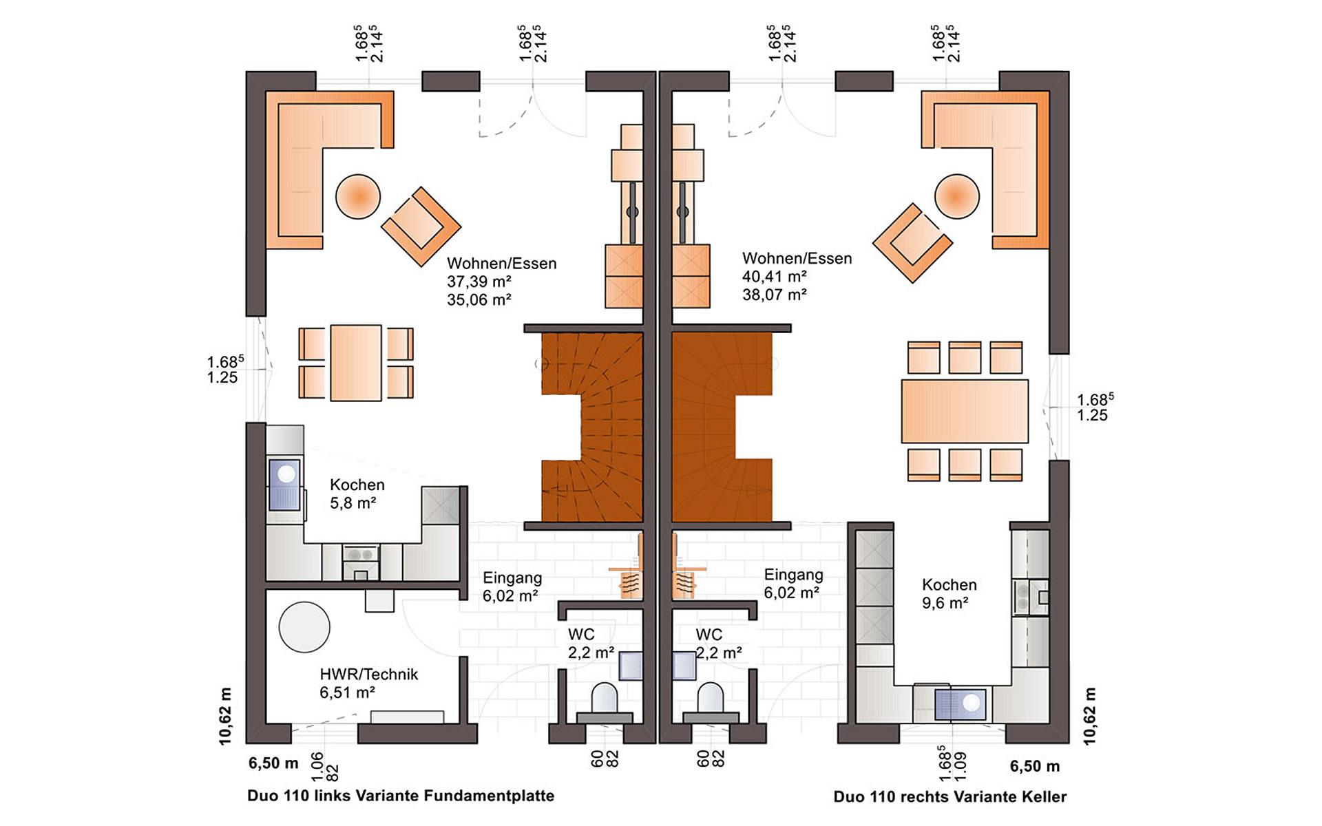 Erdgeschoss Duo 110 von Bärenhaus - das fertige Haus GmbH