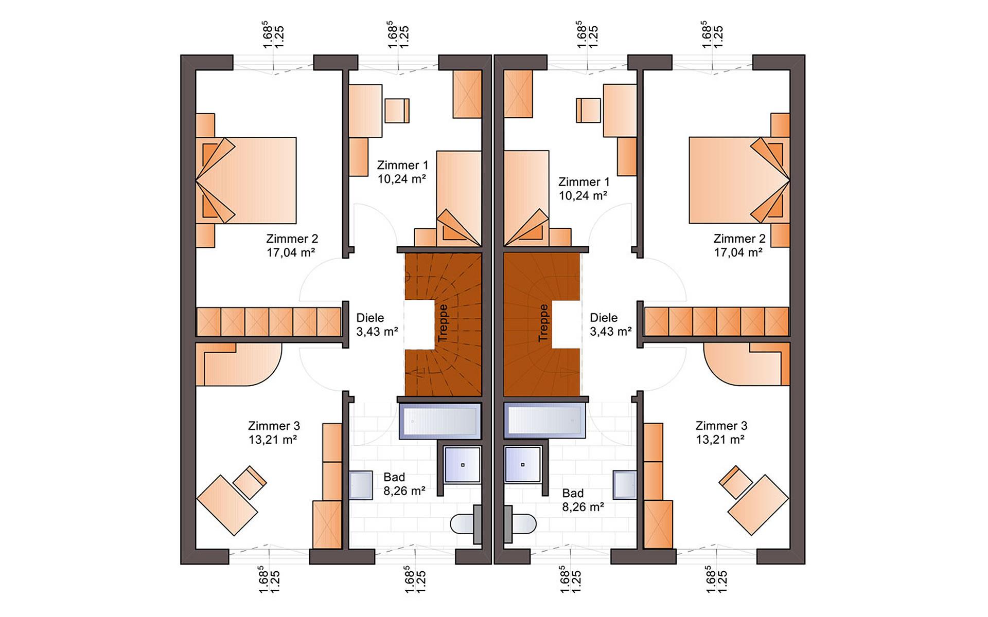 Obergeschoss Duo 110 von Bärenhaus - das fertige Haus GmbH