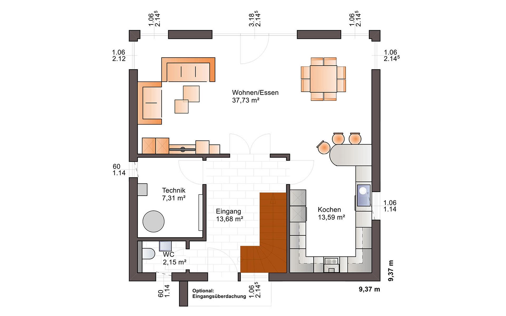 Erdgeschoss Eos 142 von Bärenhaus - das fertige Haus GmbH