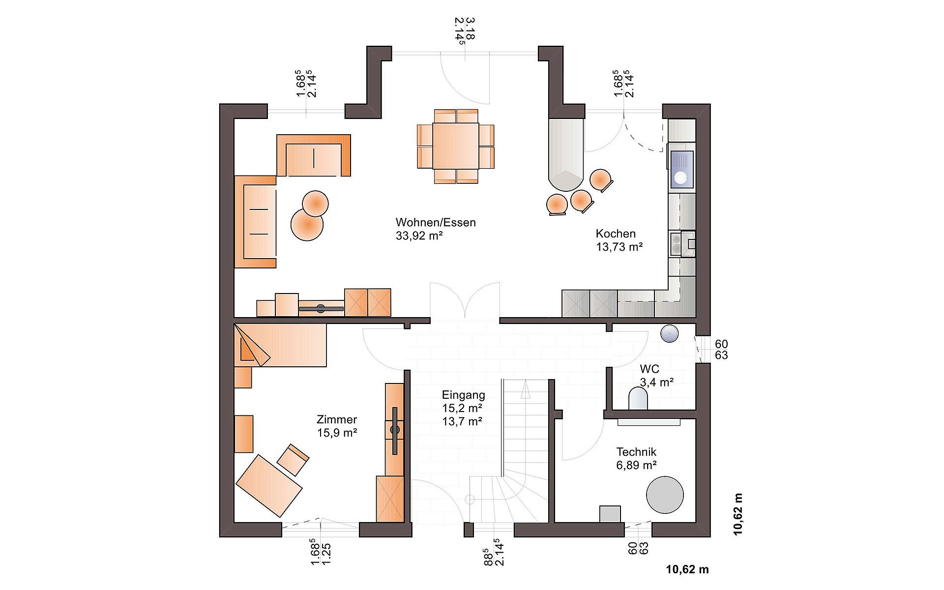 Erdgeschoss Eos 169 von Bärenhaus - das fertige Haus GmbH