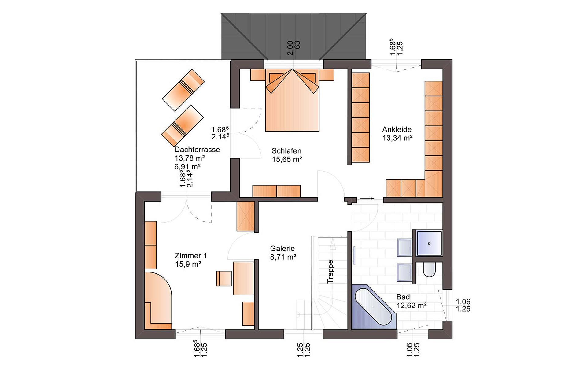 Obergeschoss Eos 169 von Bärenhaus - das fertige Haus GmbH
