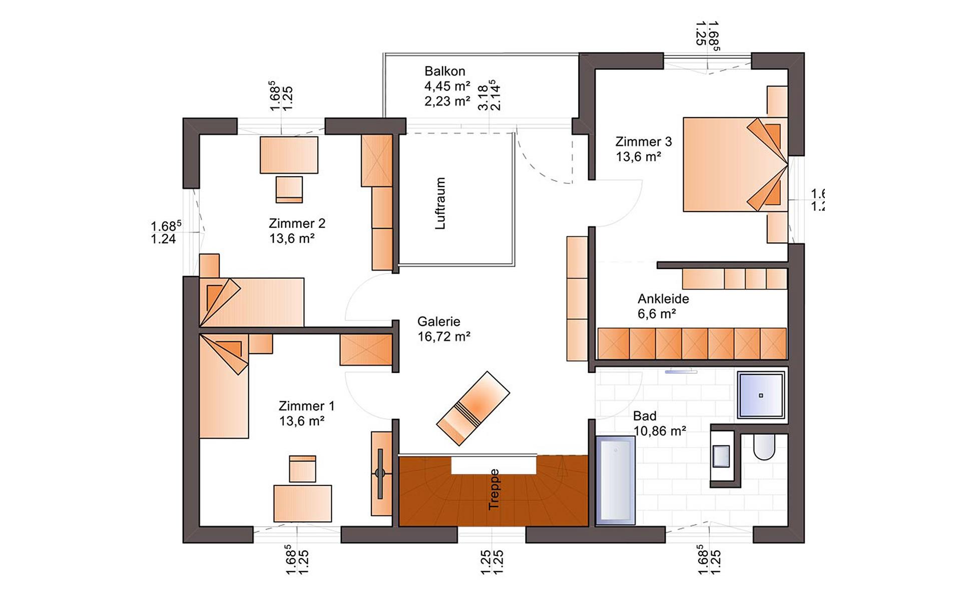 Obergeschoss Eos 170 von Bärenhaus - das fertige Haus GmbH