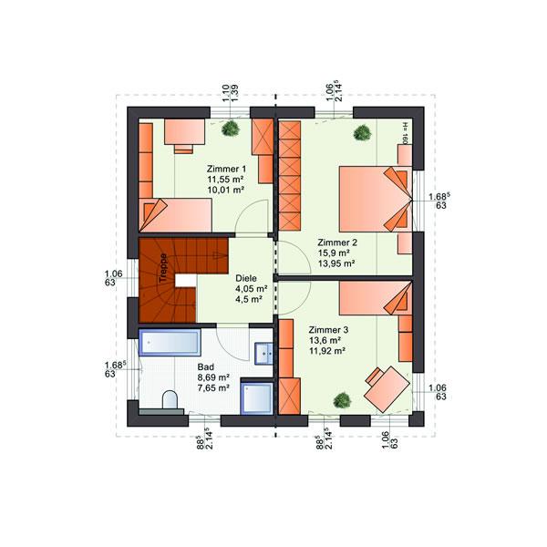 Dachgeschoss Esprit 117 von Bärenhaus - das fertige Haus GmbH