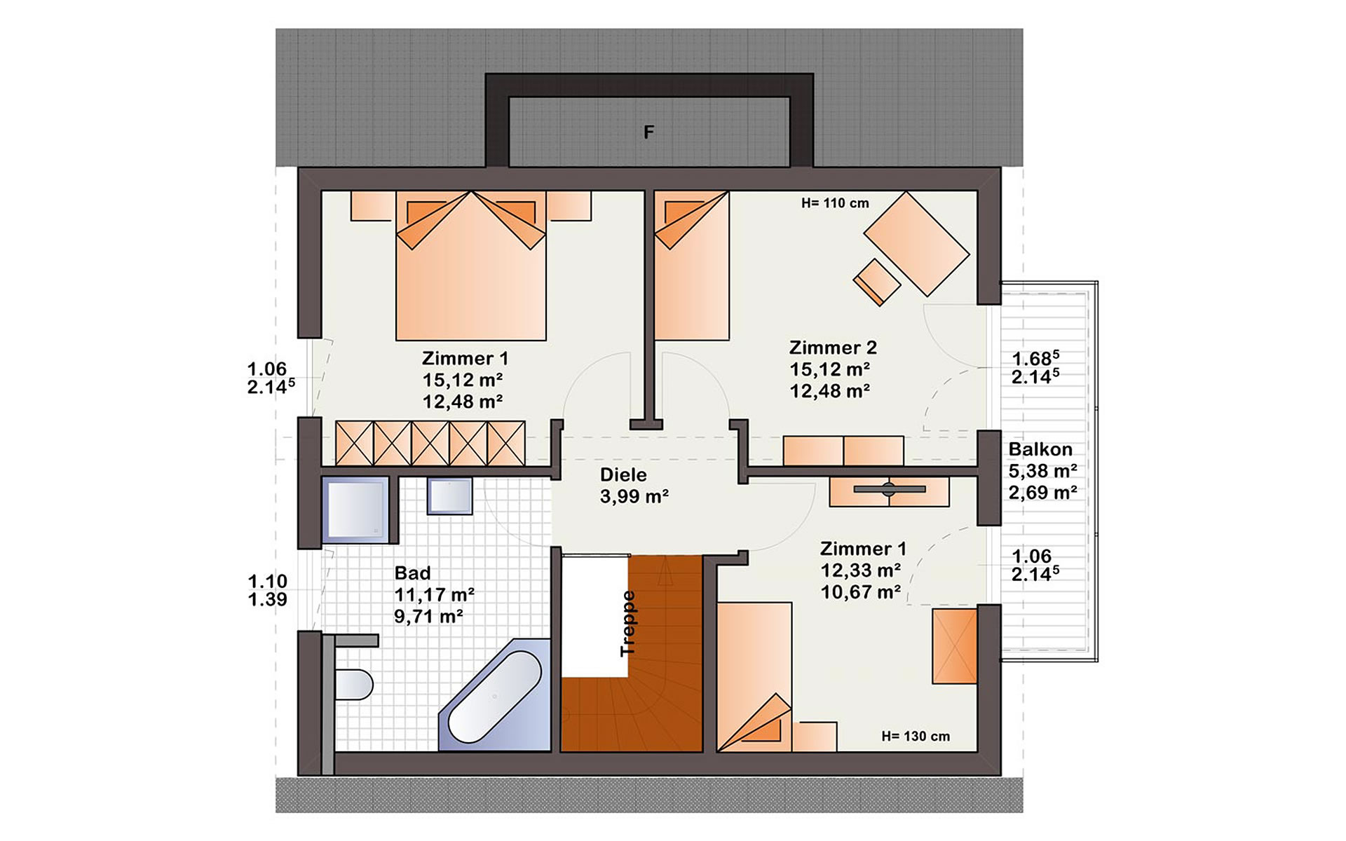 Dachgeschoss Esprit 125 von Bärenhaus - das fertige Haus GmbH
