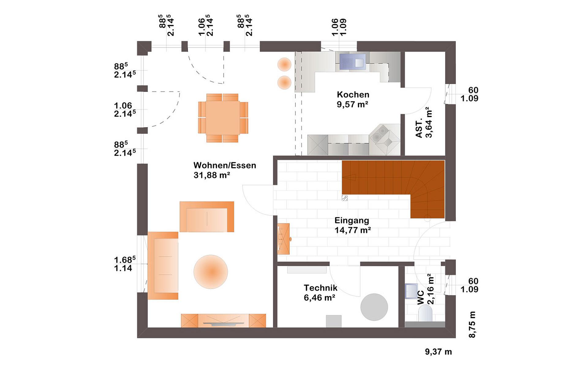 Erdgeschoss Esprit 126 von Bärenhaus - das fertige Haus GmbH