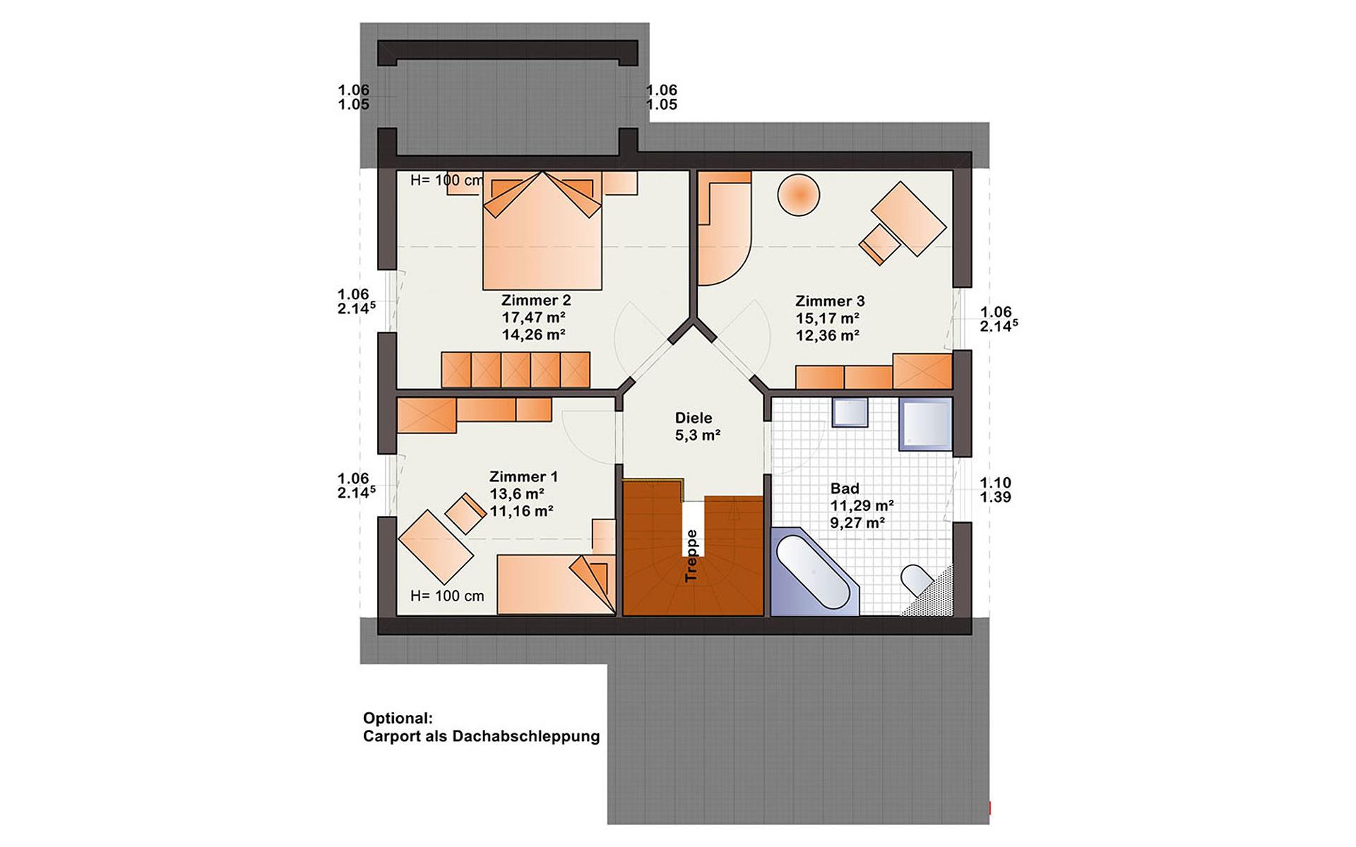 Dachgeschoss Esprit 137 von Bärenhaus - das fertige Haus GmbH