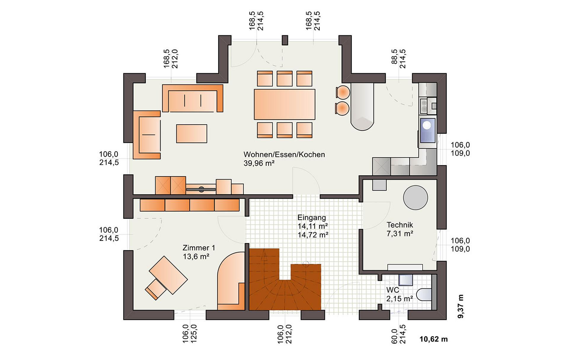 Erdgeschoss Esprit 149 von Bärenhaus - das fertige Haus GmbH