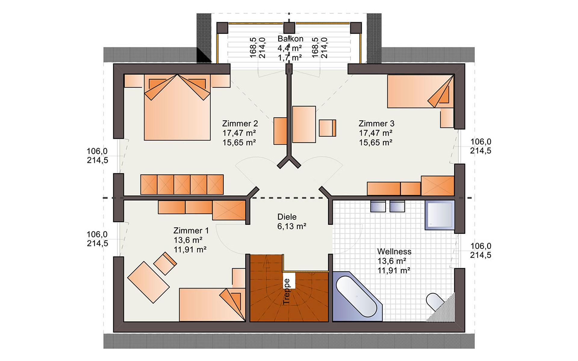 Dachgeschoss Esprit 149 von Bärenhaus - das fertige Haus GmbH