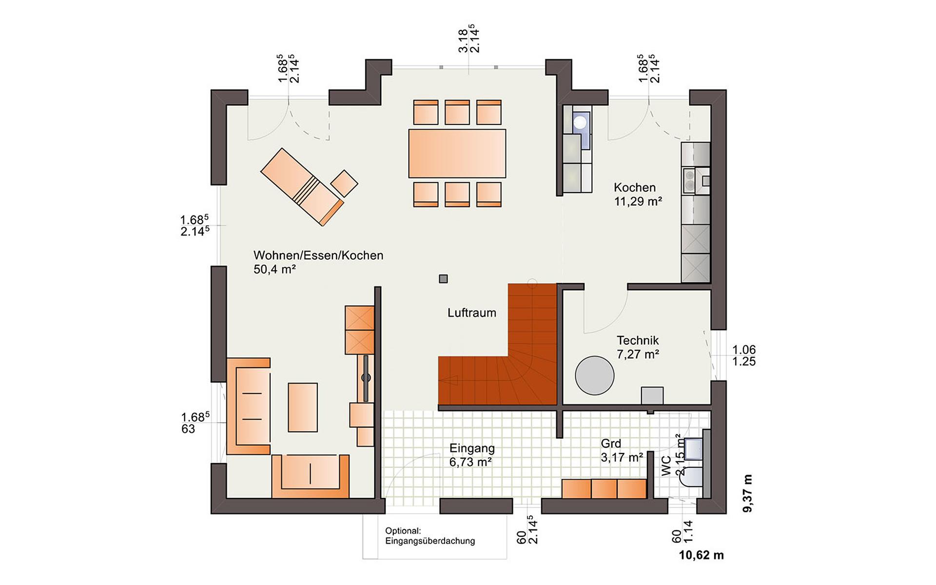 Erdgeschoss Esprit 155 von Bärenhaus - das fertige Haus GmbH