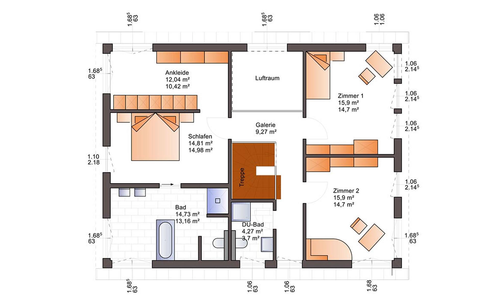 Dachgeschoss Esprit 184 von Bärenhaus - das fertige Haus GmbH