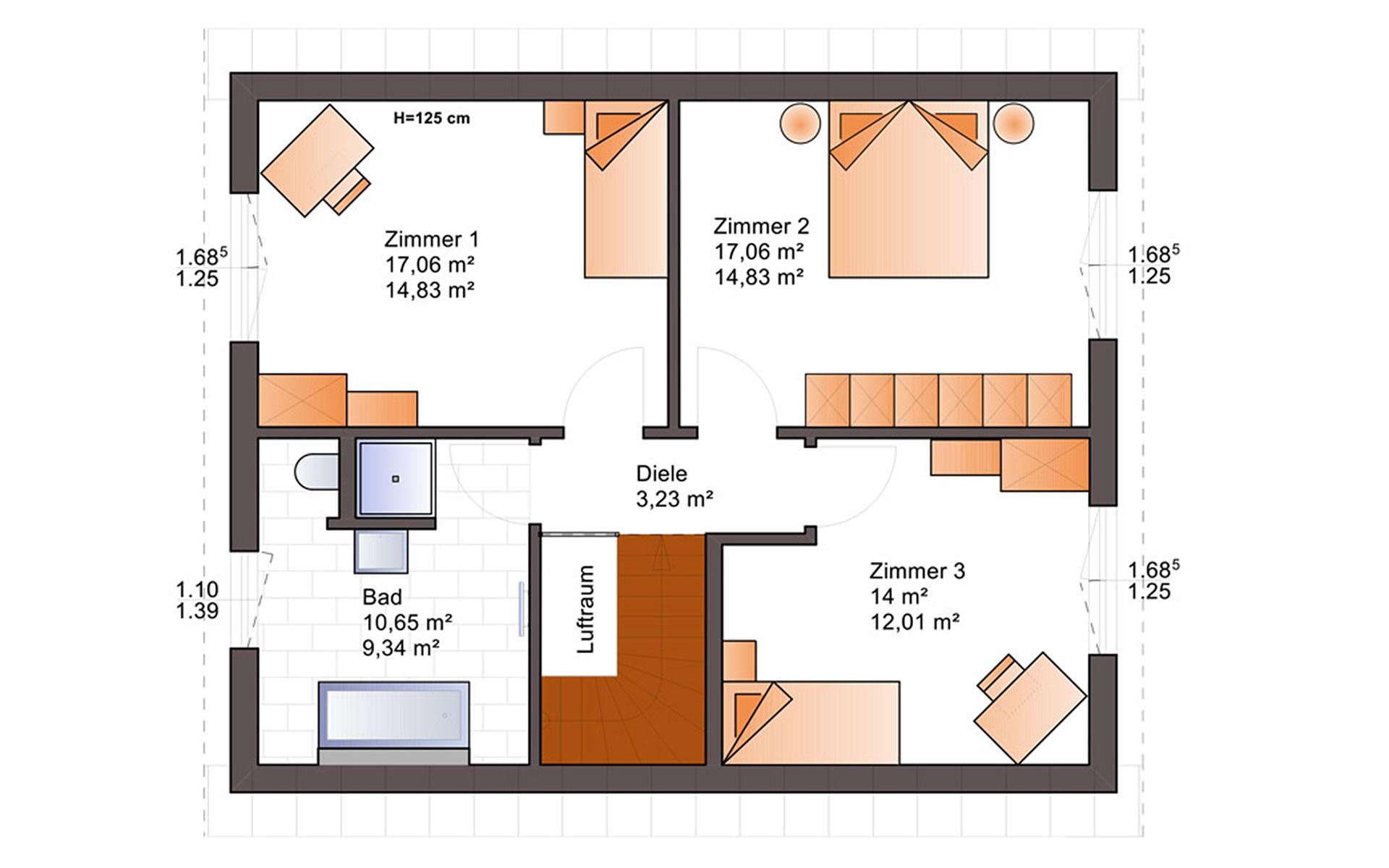Dachgeschoss Euro Star 130 A von Bärenhaus - das fertige Haus GmbH