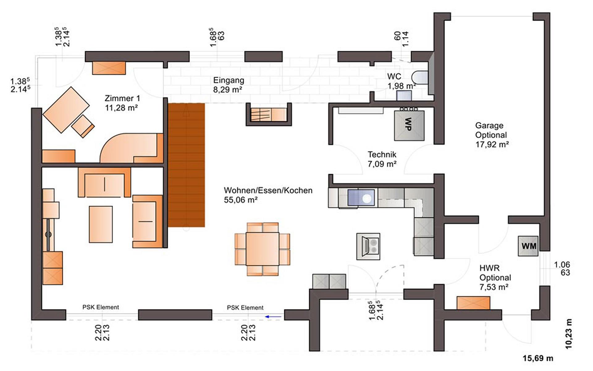 Erdgeschoss Fine Arts 201 von Bärenhaus - das fertige Haus GmbH
