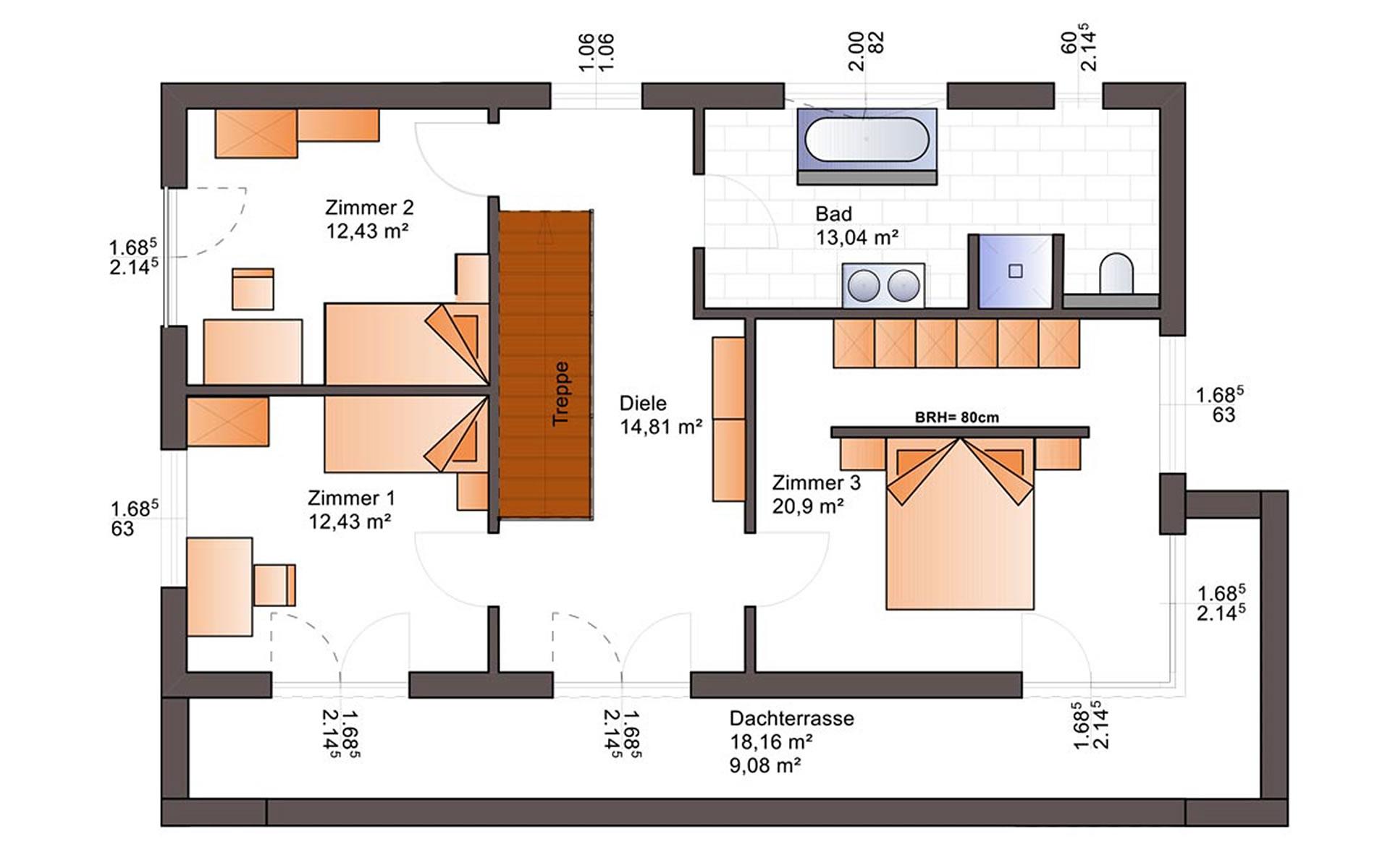 Obergeschoss Fine Arts 201 von Bärenhaus - das fertige Haus GmbH