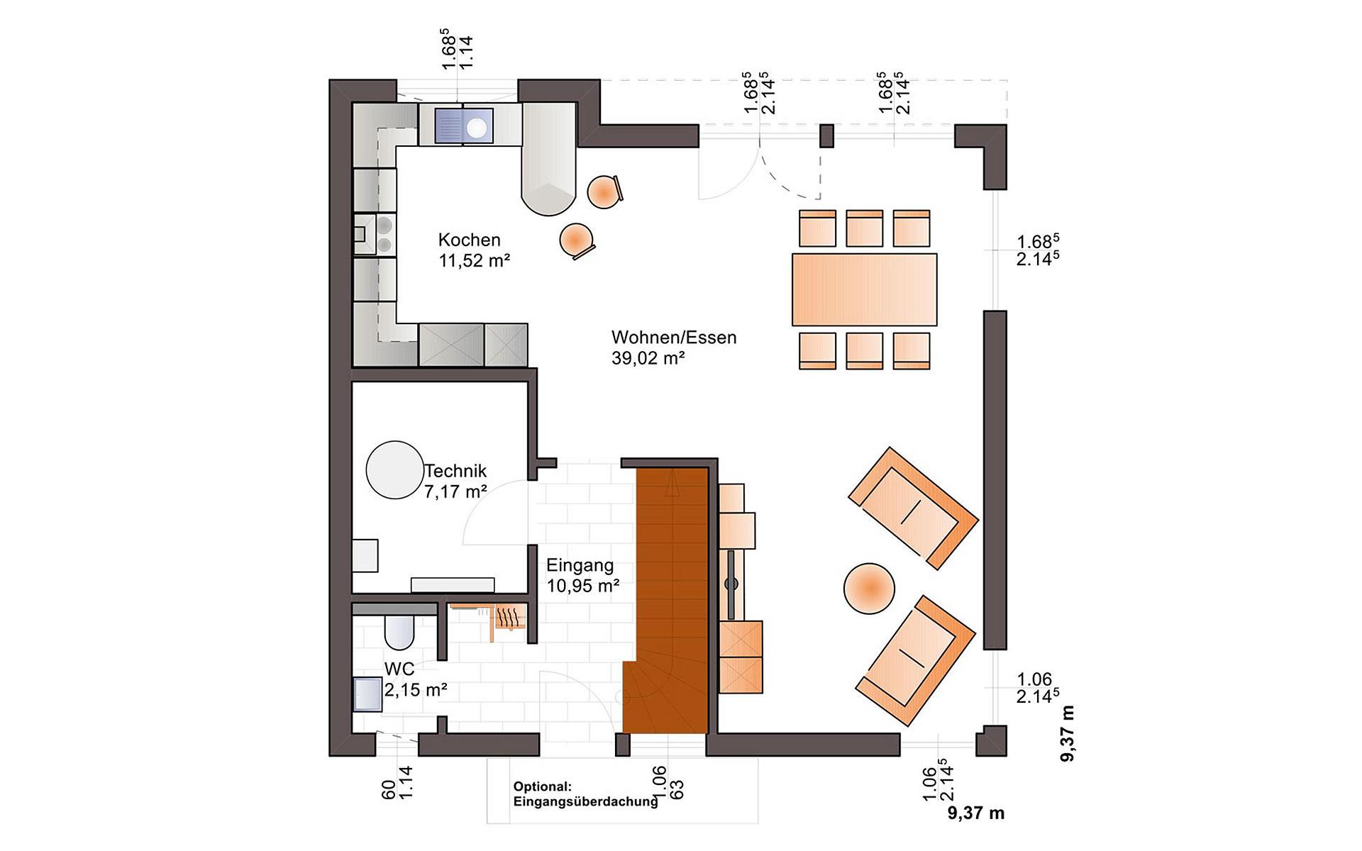 Erdgeschoss Fine Arts 137 von Bärenhaus - das fertige Haus GmbH