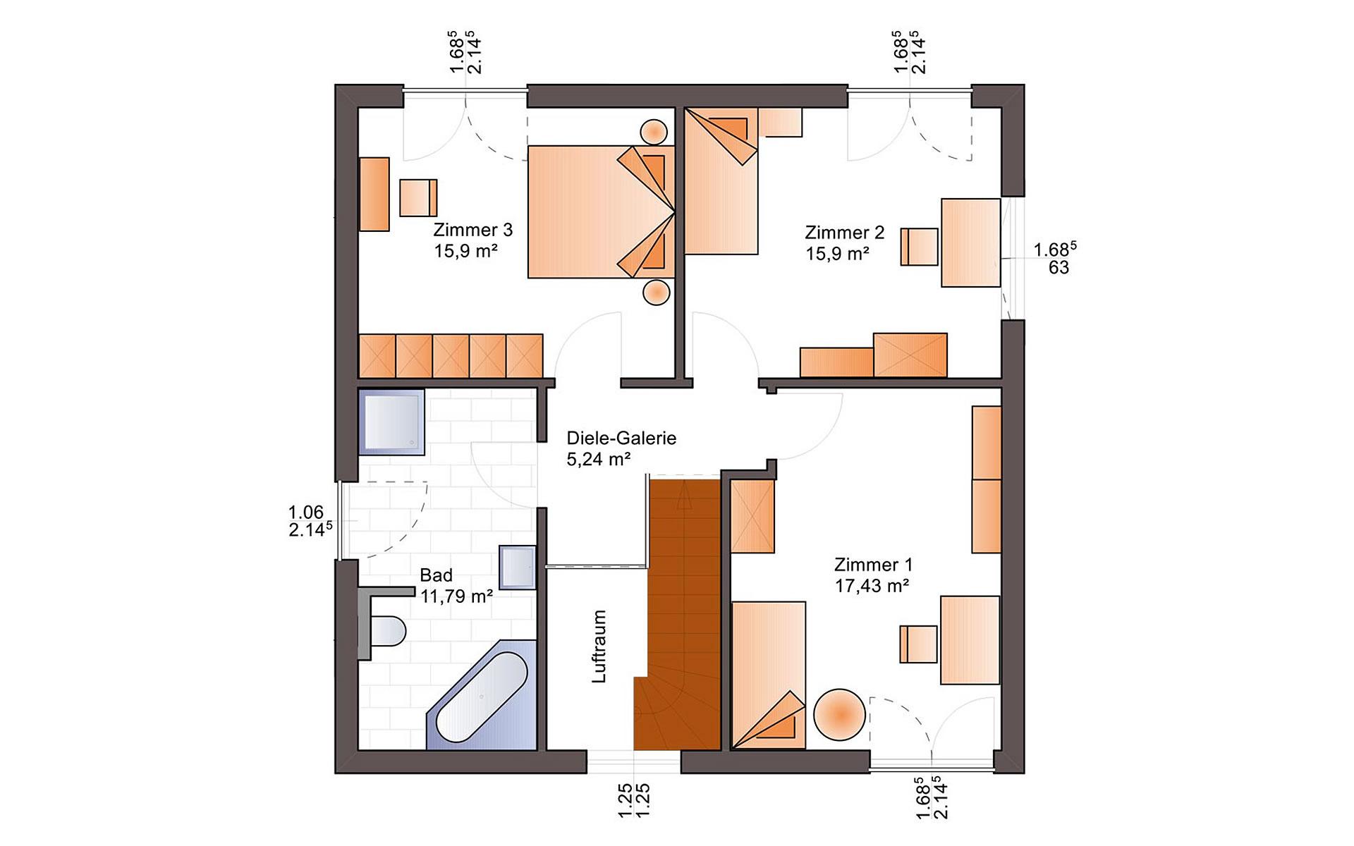 Obergeschoss Fine Arts 137 von Bärenhaus - das fertige Haus GmbH