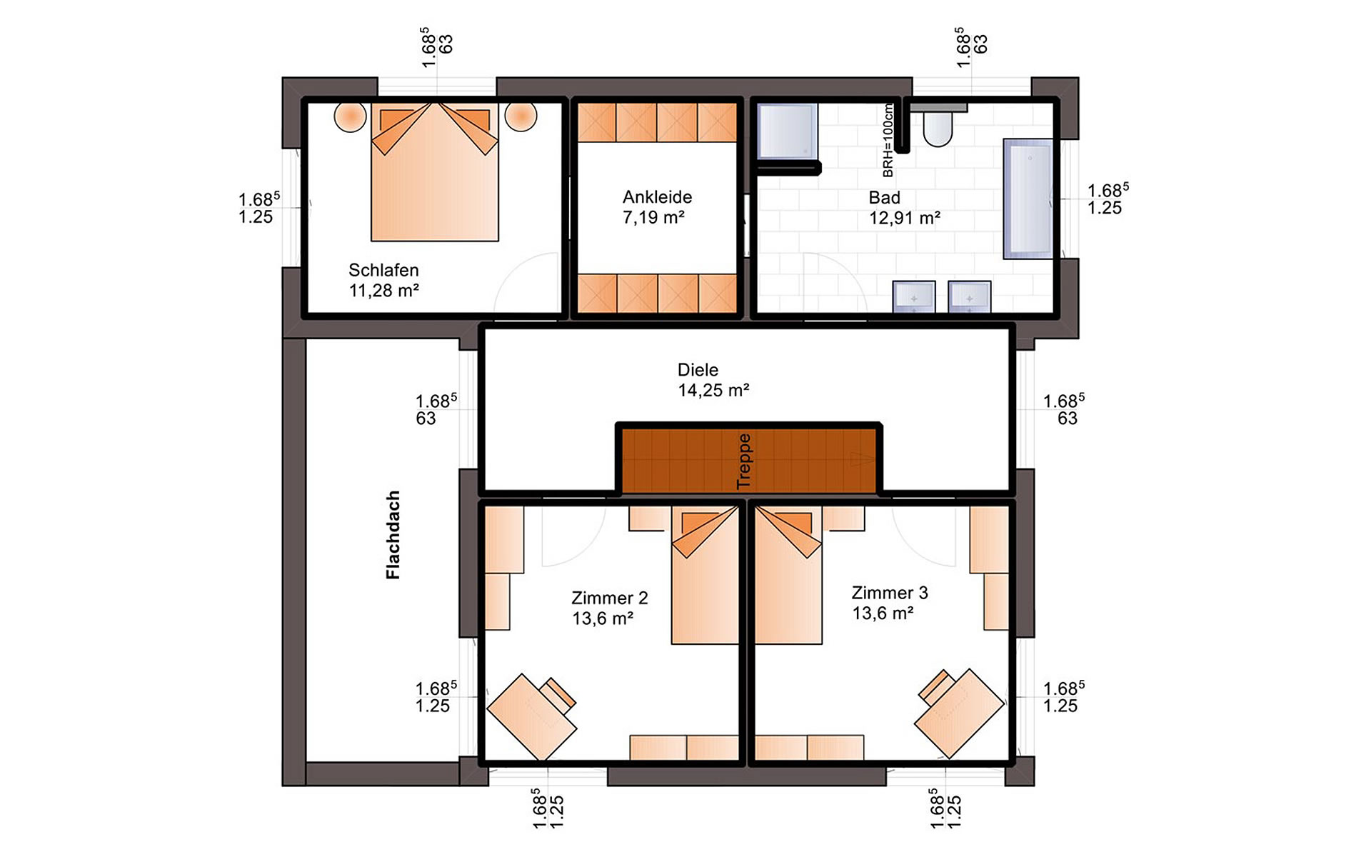Obergeschoss Fine Arts 163 von Bärenhaus - das fertige Haus GmbH