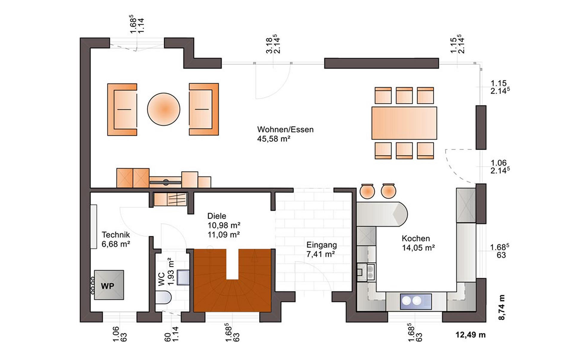 Erdgeschoss Fine Arts 169 von Bärenhaus - das fertige Haus GmbH