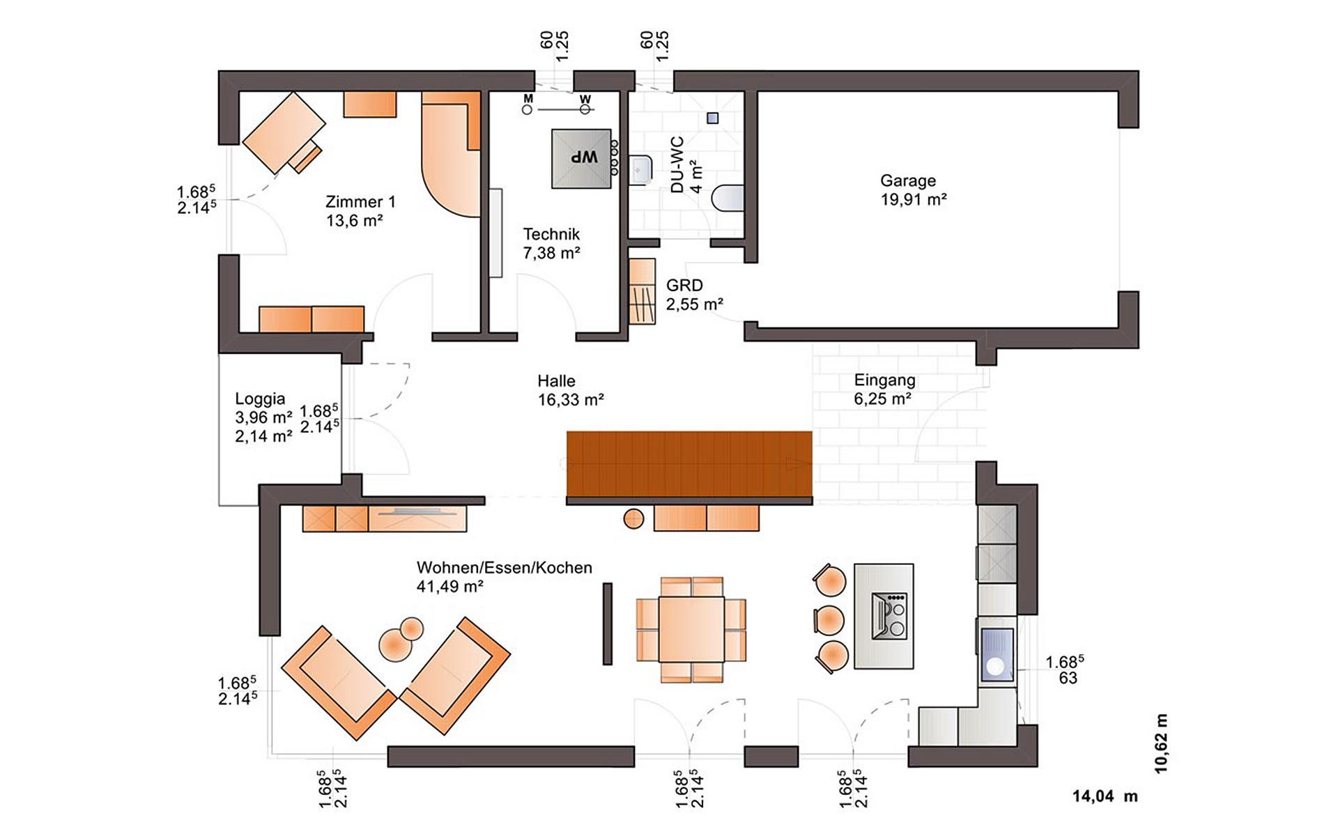Erdgeschoss Fine Arts 211 von Bärenhaus - das fertige Haus GmbH
