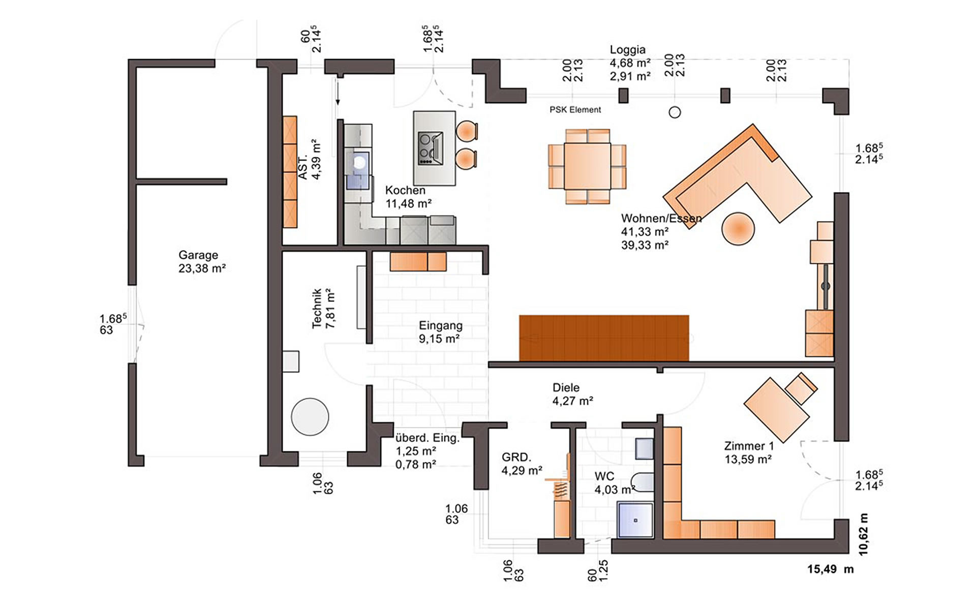 Erdgeschoss Fine Arts 223 von Bärenhaus - das fertige Haus GmbH