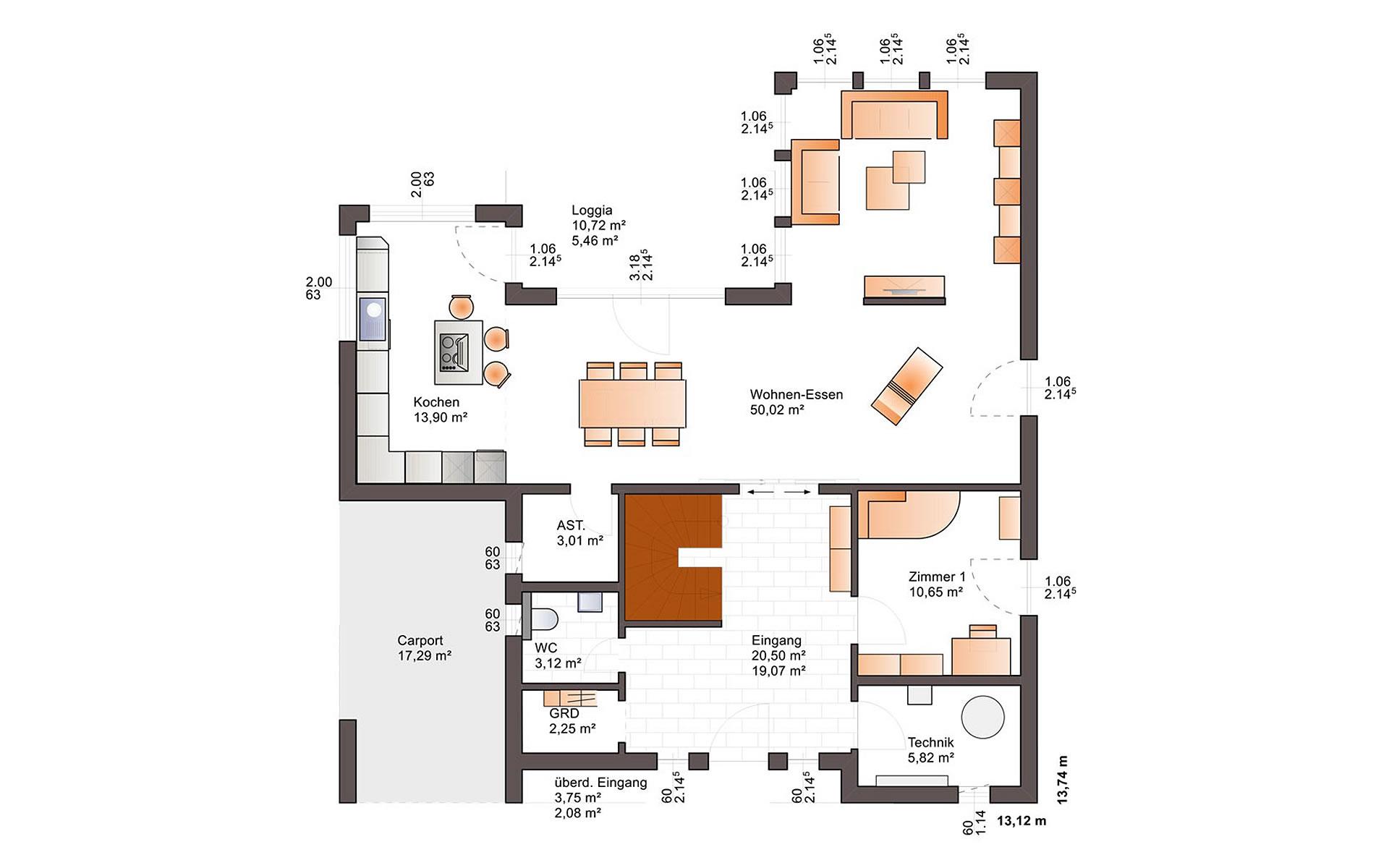 Erdgeschoss Fine Arts 239 von Bärenhaus - das fertige Haus GmbH