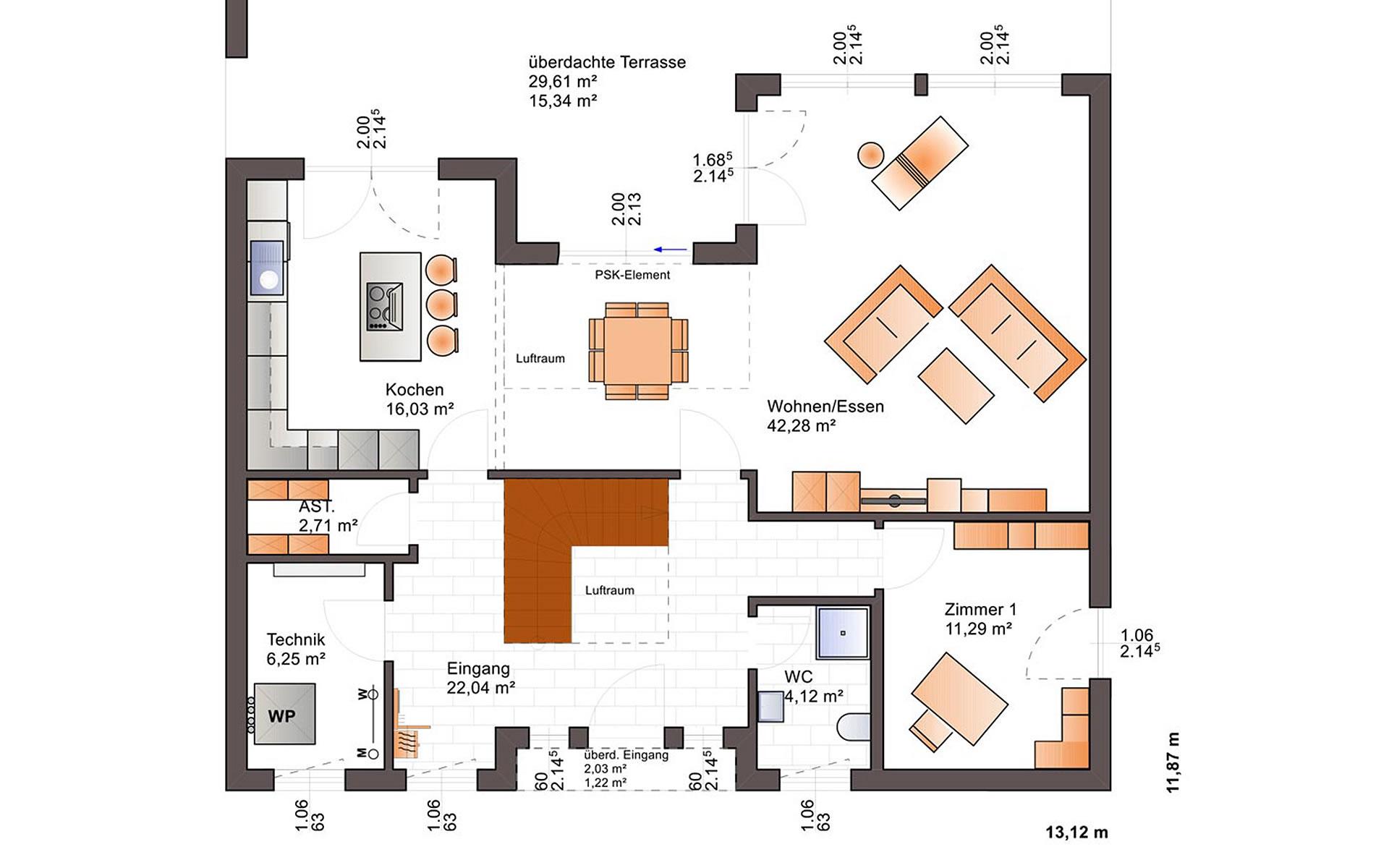 Erdgeschoss Fine Arts 260 von Bärenhaus - das fertige Haus GmbH