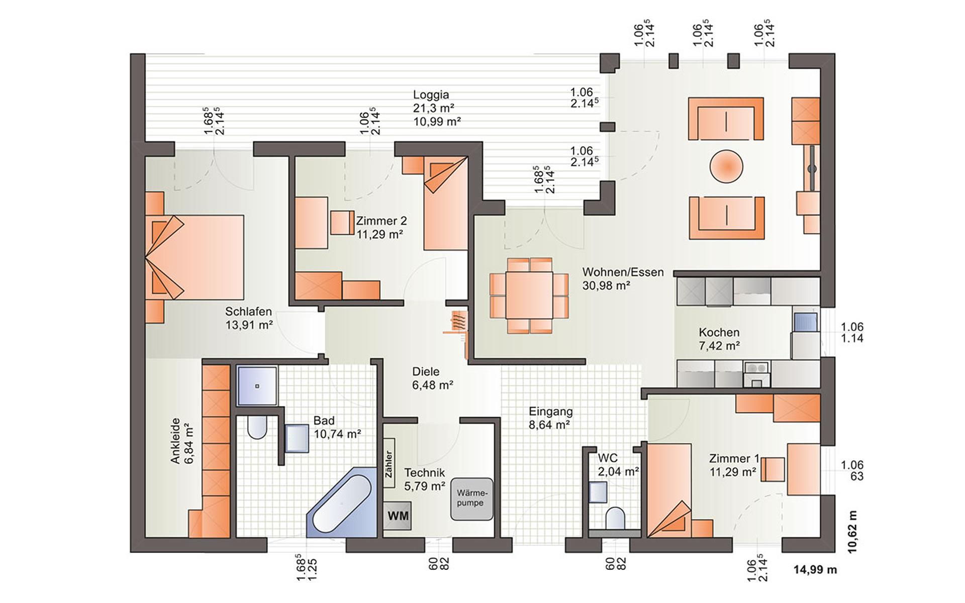 Erdgeschoss One 136 von Bärenhaus - das fertige Haus GmbH