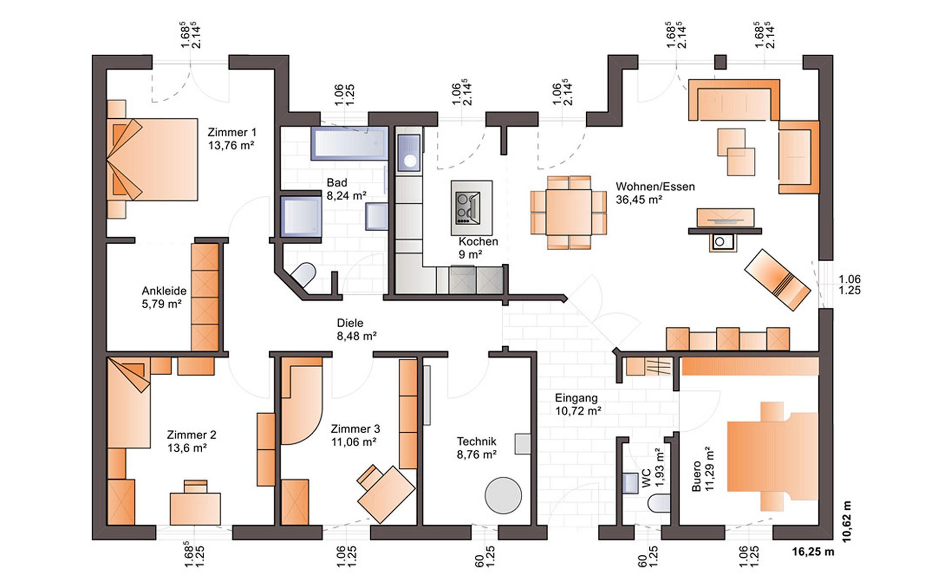 Erdgeschoss One 139 von Bärenhaus - das fertige Haus GmbH