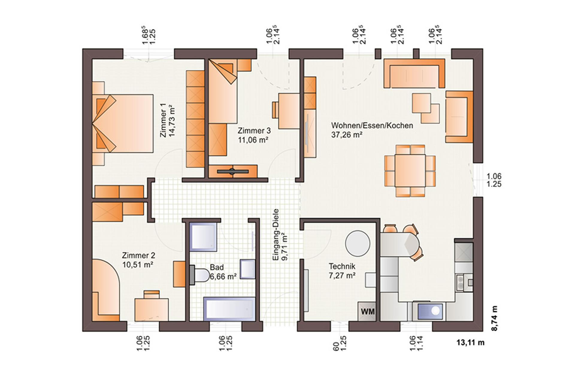Erdgeschoss One 97 von Bärenhaus - das fertige Haus GmbH