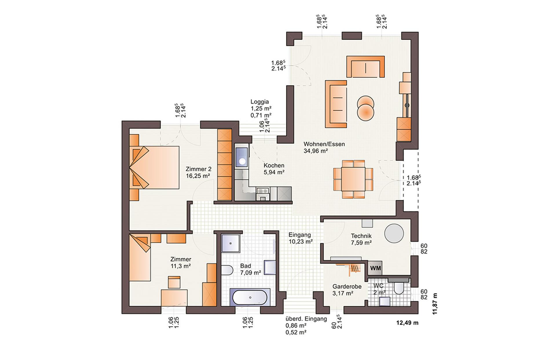 Erdgeschoss One 98 von Bärenhaus - das fertige Haus GmbH