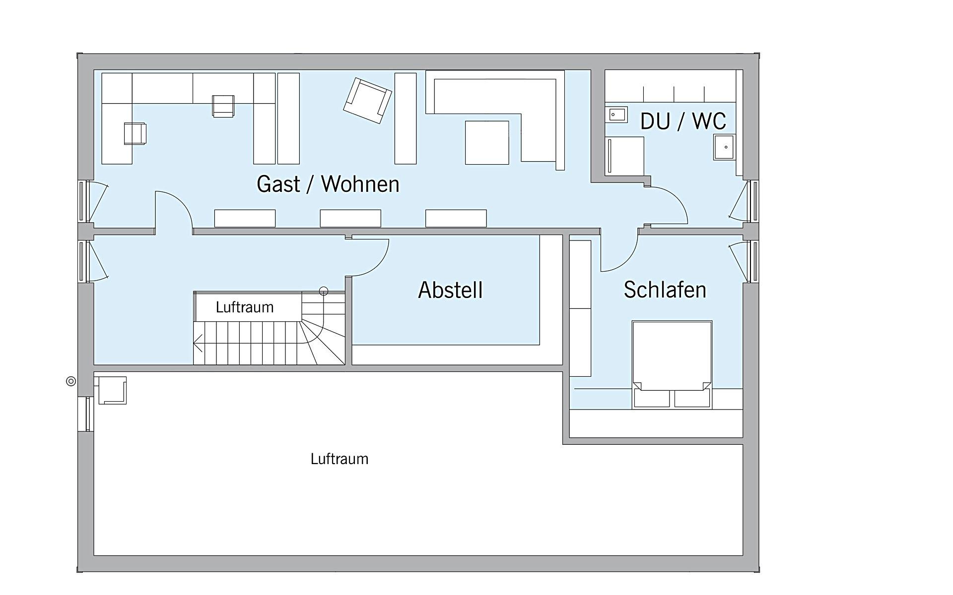 Dachgeschoss Schweiger von Bau-Fritz GmbH & Co. KG, seit 1896
