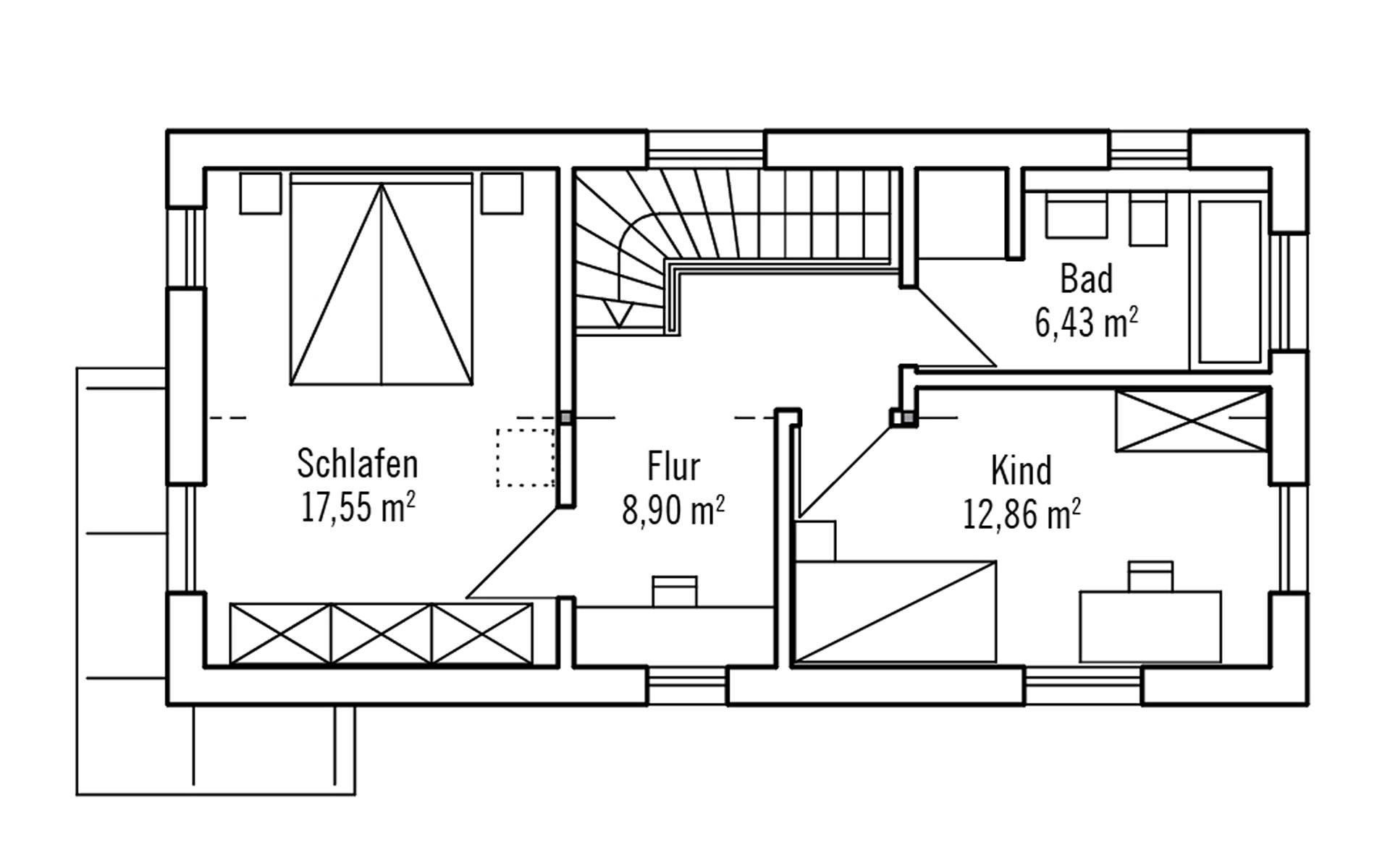 Obergeschoss Hoch Hinaus 101m² von Bau-Fritz GmbH & Co. KG, seit 1896