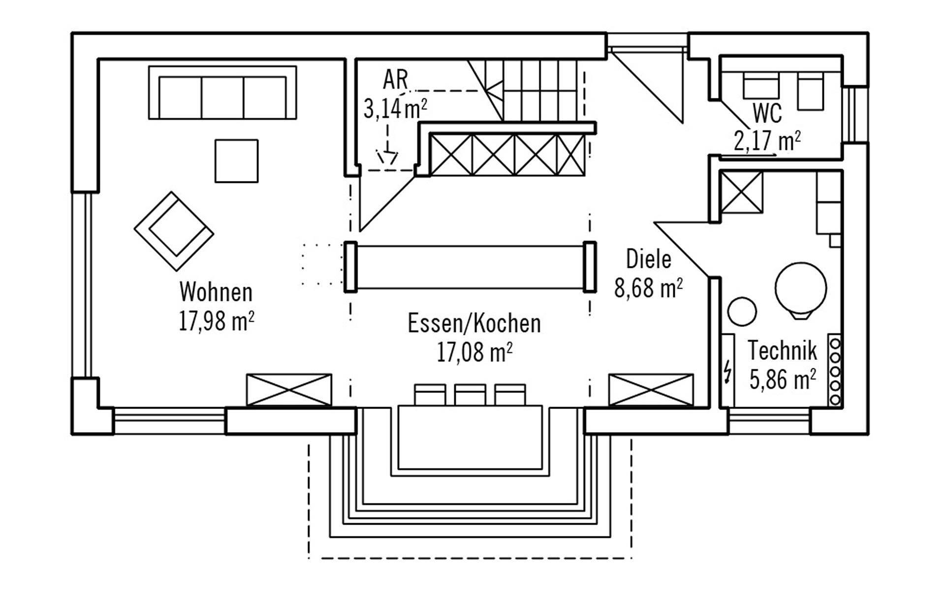 Erdgeschoss Hoch Hinaus 101m² von Bau-Fritz GmbH & Co. KG, seit 1896