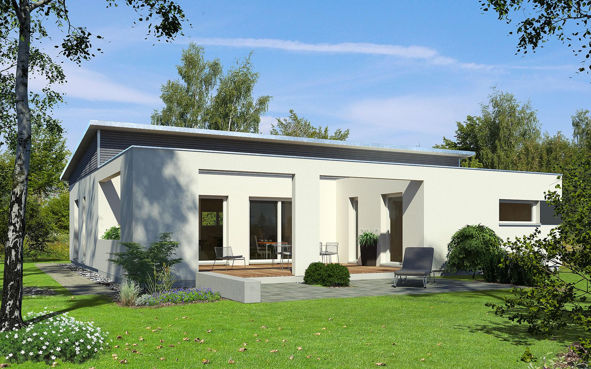 PlanMit Architektur Pultdach-Bungalow von Bau-Fritz GmbH & Co. KG, seit 1896